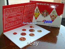 Bu Monaco 2020 Unc Divisionale Fdc Euro Kms Set 8 Pieces Coffret Stgl