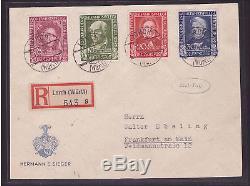 Bund FDC 117-120 Ersttagsbrief Wohlfahrt 1949 geprüft (21682)