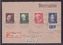 Bund FDC 143-146 Ersttagsbrief Wohlfahrt 1951 Attest (21681)