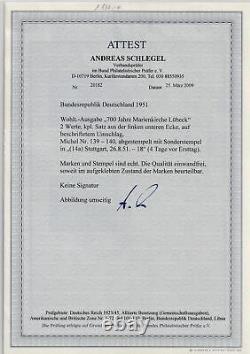 Bund, Vor-FDC, Mi. Nr. 139 140 Eckrand, FA. A. SchlegelBPP