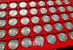 CARAVELLE-LOTTO di 50 MONETE DA 500 LIRE IN ARGENTO FDC 1966 DA ROTOLINO