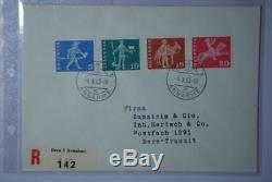 CH01 Europa Schweiz Komplettes Attest RAR 696y-699y FDC (4.10.1963)