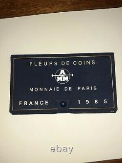 COFFRET FLEURS DE COINS au millésime 1985 MONNAIE de PARIS