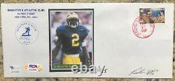 Charles Woodson Autographed 1997 FDC Cache PSA Certified #12/25 Never Released