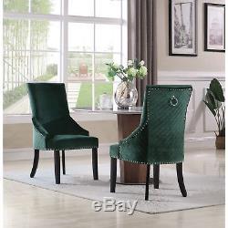 Chic Home Moishe Velvet Upholstered Dining Chair, Set of 2