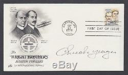 Chuck Yeager, American Test Pilot, first to break Mach I, signed Wright Bros FDC