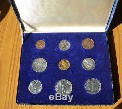 Citta' Del Vaticano Serie 1936 9 Monete 100 Lire Oro 5 10 Lire Argento Fdc