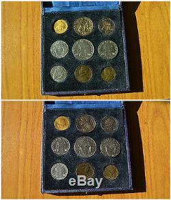 Citta' Del Vaticano Serie 1945 9 Monete 100 Lire Oro Rarissima 1000 Pezzi Fdc