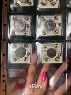Citta' Vaticano Serie 1944 Pio XII 8 Monete 5 10 Lire Argento Rarissime Fdc