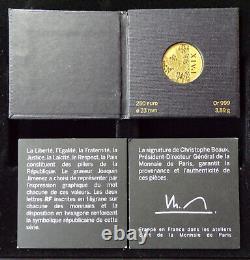 Coffret 250 euros OR + 5 X 3 + 25 X 3 ARGENT 2013 Les Valeurs de la République