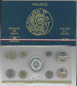 Coffret FDC, 1978, Monnaie de Paris, 1 centime épi avec rebord, NEUF, RARE