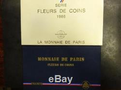 Coffret FDC Francs 1986