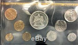 Coffret France Fdc 1980 10 Monnaies Dont La 50 F Hercule Rare