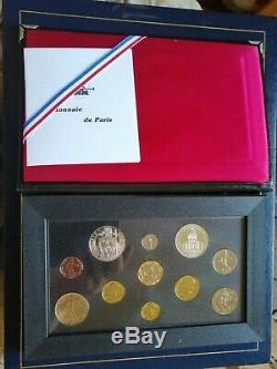Coffret Monnaie de Paris- Série 1990 France 11 monnaies FDC Fleur de coin