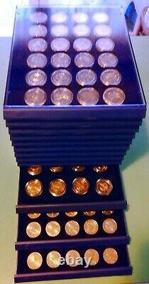 Collezione dei 2 Euro commemorativi dal 2004 al 2018 FDC 360 monete
