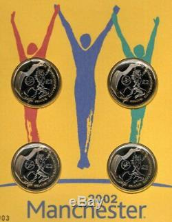 Commonwealth Games Fdc 16-7-02 Manchester Shs+4 Brilliant Unc GB £2 Coins F16