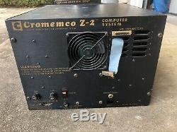 Cromemco Z2D Z-2D S100 Computer Chassis with ZPU TU-ART 4x 16K RAM 4FDC Cards