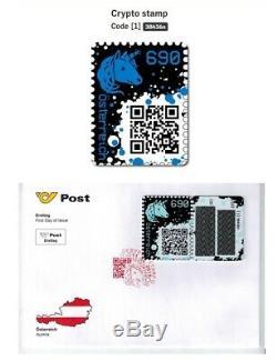 Crypto Stamp BLUE BLAU Österreich Austria 2019 FDC Ersttagsbrief Ethereum ETB