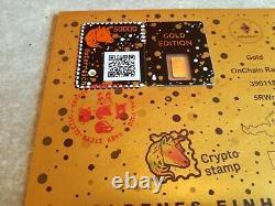 Crypto Stamp Goldenes Einhorn Ersttagsbrief / Golden Unicorn First Day Cover