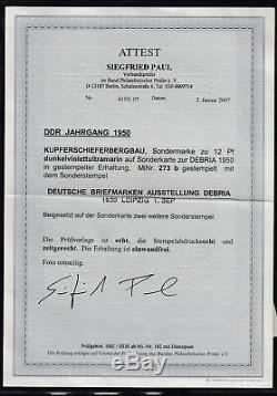DDR. 1950 FDC. Mi. Nr. 273 b, FA. PaulBPP