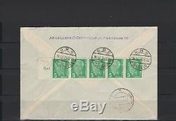 DDR 1952, Nr. 322 auf Ersttagsbrief, FDC aus Berlin nach Ingolstadt