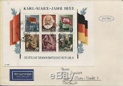 DDR Block 8 A+B je auf Ersttagsbrief (FDC) 1953 top erhalten Rarität (B07616/17)