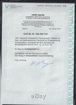 DDR, FDC. Mi. Nr. 286-288, FA. Mayer