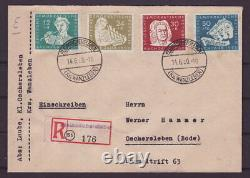 DDR Rarität Satzbrief Nr. 256 259 Bach auf R-Brief Ersttag FDC Mi. 1400