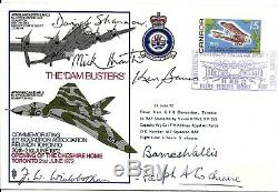Dam Busters FDC Hand Signed Barnes Wallis F Winterbotham Ralph Cochrane &3 Pilot