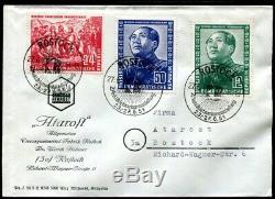 Ddr 1951 286-288 Fdc Ersttagsbrief Deutsch Chinesen 500i2558