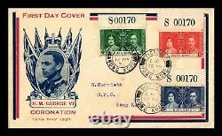 Dr Jim Stamps Hong Kong Coronation King George VI Fdc Combo Cover