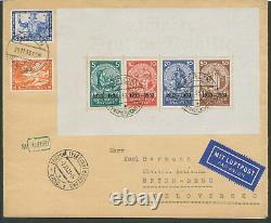 Dt. Reich 1933, Block 2 Nothilfeblock auf Luftpost-Ersttagsbrief FDC, RARITÄT