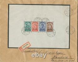Dt. Reich 1933, Block 2 im Originalformat, Ersttagsbrief-FDC, FA Schlegel BPP