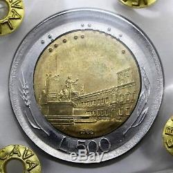 ERRORE DI CONIO 500 lire 1982 Coniato fuori virola FDC Perizia F. Cavaliere