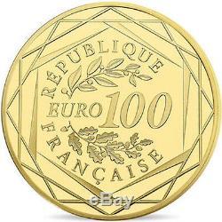 EUR, France, Monnaie de Paris, 100 Euro, UEFA Euro 2016, 2016, FDC, Or #96318