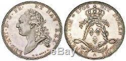 Ecu dit de Calonne essai original à six pans de virole 1786 Paris FDC rare