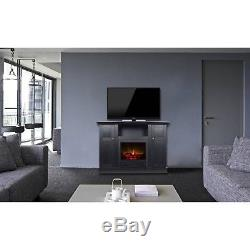 Electric Fireplace TV Stand Heater 50 Media Storage Cabinet Entertainment Center