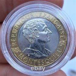 Essai 10 Francs Montesquieu 1989 Sous Coque