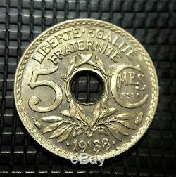 Essai Lindauer 5 Centimes 1938 Petit Module Maillechort Fdc