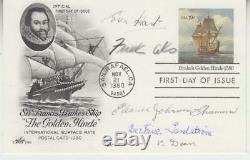 Eva Hart, Frank Aks, B. V. Dean, Shuman. 5 Titanic Survivors signed FDC