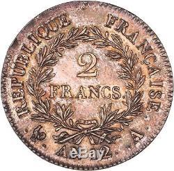 Exceptionnel 2 Francs AN12 A Paris Napoléon Empereur à l'état de frappe FDC