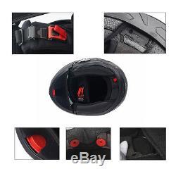 FDC Bluetooth Integrated Modular Flip Up Dual Visor Full Face Motorcycle Helmet