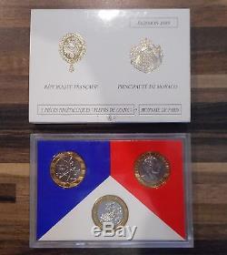 FDC Coffret 1989 3 x pièces bimétalliques Montesquieu