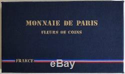 FRANCE Coffret FDC 1988 La Monnaie de Paris // Série FLEURS DE COINS