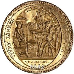 FRANCE Essai Monneron 5 sols 1792 Birmingham Proof Flan Bruni