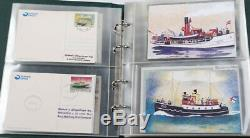 Färöer 4 Leuchtturm Alben voll Belege, FDC, Maximumkarten usw