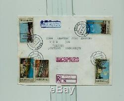 Fdc albania 1970 industrial buildings error stamp to mocambique registered
