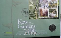 Fifty Pence 50p 2009 Kew Gardens First Day of Issue PNC Stamp Cover RARE