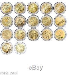 Finland 2 euro 17 coins 2004 2015 UNC Finlandia Finlande Finnland FDC