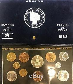 France Coffret Serie Fdc 1983 12 Monnaies